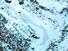 <b>안나푸르나 사고 현장</b><Br>네팔 히말라야 안나푸르나에서 산사태를 만나 실종된 한국인 교사 4명에 대한 수색 작업이 나흘째를 맞고 있다. 사진은 20일 오전 헬기에서 바라본 사고 현장 모습. 파란색 선은 길. 붉은색 화살표는 눈사태. [니마 셰르파 촬영] 연합뉴스