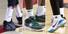 <B>코비 사망 애도하는 선수들 </B>미국프로농구(NBA)의 전설 코비 브라이언트의 충격적인 사망 소식이 전해진 27일 서울SK 자밀 워니(왼쪽부터), 안양KGC 브랜든 브라운, 서울 삼성 천기범이 각각 잠실학생체육관(서울SK-안양KGC), 원주종합체육관(원주DB-서울 삼성)에서 열린 경기에서 고인을 추모하는 문구를 적은 농구화를 신고 있다.서울=연합뉴스