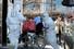 5일 오전 신종 코로나바이러스 감염증 18번 환자가 감염 음압 격리실이 마련된 광주 동구 전남대병원으로 이송되고 있다. 연합뉴스