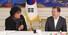 <b>문 대통령 웃게하는 봉준호 감독</b><br>  봉준호 감독이 20일 청와대에서 문재인 대통령의 영화 '기생충' 제작진, 배우 초청 오찬에 앞서 인사말을 하고 있다.