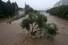 폭우가 내린 7일 오후 광주광역시 광주천의 수위가 높아져 천변길이 잠긴 가운데 물살이 세차게 흐르고 있다. 연합뉴스
