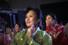 30일(현지시간) 북한 평양 류경정주영체육관의 국제프로레슬링대회에서 한복을 곱게 차려 입은 여성 관중들이 경기를 흥미있게 바라보고 있다. AP/연합%!^r%!^n