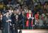30일 북한 평양 류경정주영체육관에서 개막한 평양 국제프로레슬링대회에서 안토니오 이노키 일본 참의원이 발언하고 있다. 연합%!^r%!^n