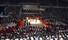30일 북한 평양 류경정주영체육관을 가득 메운 북한 관중이 평양 국제프로레슬링대회 경기를 관람하고 있다. 연합%!^r%!^n