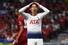 손흥민이 1일(현지시각) 스페인 마드리드의 에스타디오 메트로폴리타노에서 열린 토트넘과 리버풀의 2018-19 시즌 유럽축구연맹(UEFA) 챔피언스리그(UCL) 결승전에서 아쉬워하는 표정을 짓고 있다. 마드리드/AFP 연합뉴스