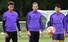 델레 알리·해리케인·손흥민(토트넘·가운데)이 리버풀과의 2018-2019 유럽축구연맹(UEFA) 챔피언스리그(UCL) 결승을 앞두고 27일(현지시각) 영국 북런던 토트넘 홋스퍼 FC 트레이닝 그라운드에서 열린 팀 훈련에 참여하고 있다. 런던/AFP 연합뉴스
