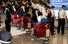 2013 동아시안컵에 출전하는 북한 여자 축구대표팀이 18일 밤 인천국제공항을 통해 입국하고 있다. 평양에서 출발해 베이징을 거쳐 도착한 선수 21명과 임원 15명 등 총 36명의 북한 대표팀은 지난 2005년 동아시안컵 이후 우리나라에 온 건 8년 만이다. 2013.7.18/뉴스1