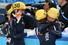 한국 쇼트트랙 대표팀의 박승희(오른쪽)가 18일 러시아 소치 아이스버그 스케이팅 팰리스에서 열린 2014 소치 동계올림픽 쇼트트랙 여자 3,000m에서 금메달을 차지한 뒤 펑펑 울고 있다. 2014.2.18    연합뉴스