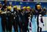 한국 쇼트트랙 대표팀의 공상정, 심석희, 김아랑, 조해리, 박승희(오른쪽부터)가 18일 러시아 소치 아이스버그 스케이팅 팰리스에서 열린 2014 소치 동계올림픽 쇼트트랙 여자 3,000m에서 금메달을 차지한 뒤 펑펑 울고 있다. 2014.2.18