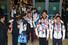 2014 소치 겨울올림픽에 참가해 금3, 은3, 동2로 종합 13위를 차지한 대한민국 선수단이 25일 오후 인천국제공항으로 입국해 초콜릿으로 만든 %!^a국민행복금메달%!^a과 꽃목걸이를 받고 있다. 인천/김정효 기자 hyopd@hani.co.kr