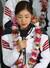 2014 소치 동계올림픽 대표팀 선수단 김연아가 25일 오후 인천국제공항을 통해 귀국해 열린 환영행사에서 소감을 밝히고 있다. 2014.2.25/뉴스1