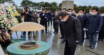 """""""역사의 채무 풀게 됐다""""…4·3평화공원 찾은 이낙연 대표"""