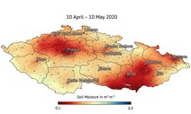 위성에서 본 500년만의 '체코 가뭄'