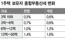 1주택자 종부세도 내년 최대 0.3%p 올라