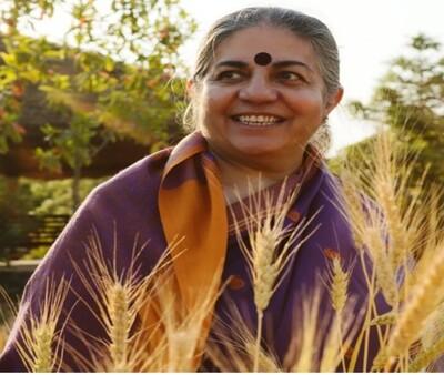에코페미니즘과 식량주권을 다루는 세계적 사상가이자 활동가인 반다나 시바. 반다나 시바 제공