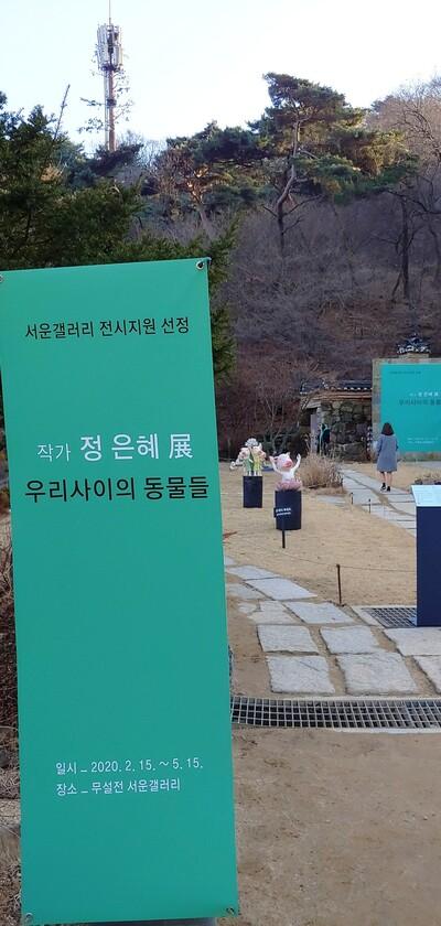 서운갤러리 청년작가 지원 공모전에 선정된 정은혜 작가의 '우리사이의 동물들' 전시는 오는 5월15일까지 열린다. 사진 김경애 기자