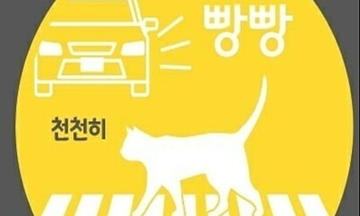 '고양이 로드킬 방지' 차량 스티커 무료로 신청하세요