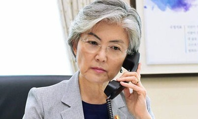 """강경화-블링컨 """"북핵 문제 시급히 다뤄져야"""" 공감"""