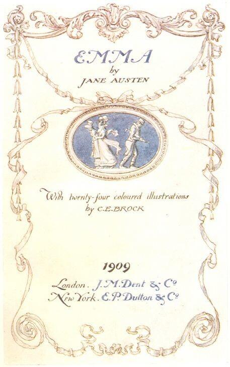 1815년 첫 출간된 제인 오스틴 <에마>의 1909년 출판본 표지. 그린비 제공