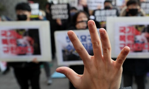 """""""홍콩 항쟁을 지지합니다"""""""