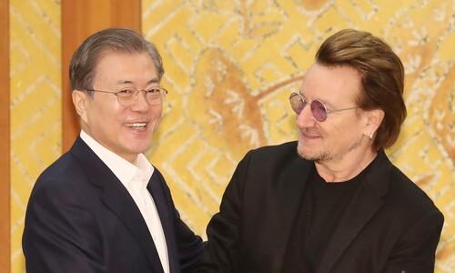 문 대통령 만난 U2 보노