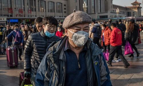 중국, 마스크 쓰고 '춘절 대이동'