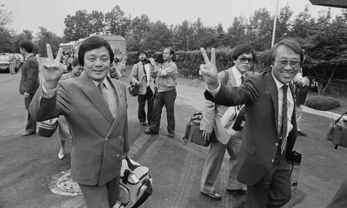 1985년 평양 공연 가는 남보원