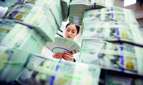 외환보유액 금융위기 이후 최대폭 감소…3월 90억달러 급감