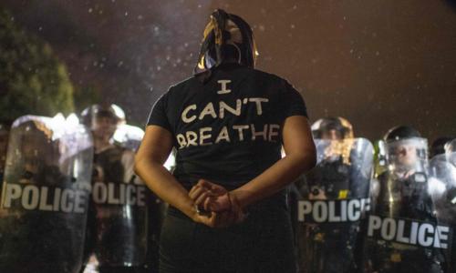 """미국을 뒤덮은_""""숨 쉴수가 없다"""""""