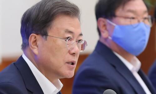 """문 대통령 """"역대 최대 3차 추경 편성…국회 조속한 처리 부탁"""""""