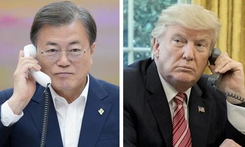 """문 대통령 """"G7 초청 기꺼이 응할 것"""" 트럼프에 화답"""