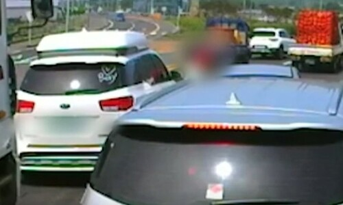 '제주 카니발 폭행 사건' 가해 운전자 징역 1년6개월…법정구속