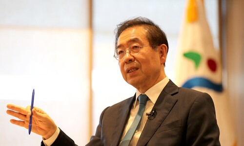 """박원순, 이재명 겨냥 """"전국민 고용보험이 훨씬 정의로워"""""""