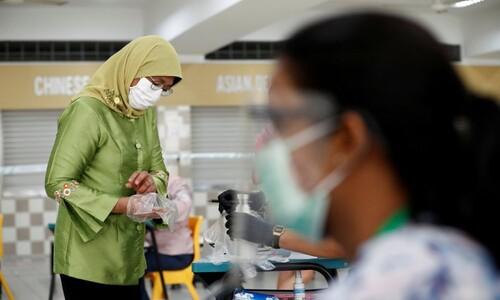 싱가포르, 비닐 장갑 끼고 총선 투표