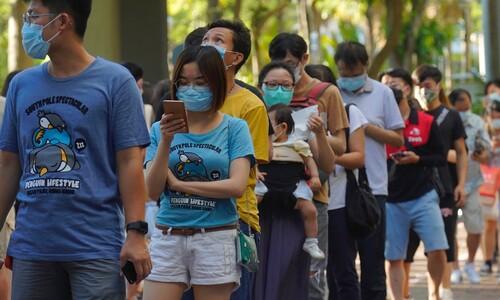"""""""불법"""" 경고에도…홍콩 야권 입법회 예비선거에 50만명 투표"""