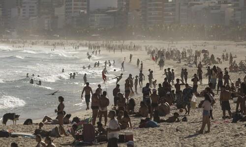 브라질 해변에 가면