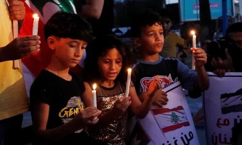 '촛불 추모'…팔레스타인 어린이들