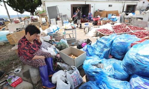 [만리재사진첩] '섬진강 제방 유실' 울먹이는 박서운 할머니