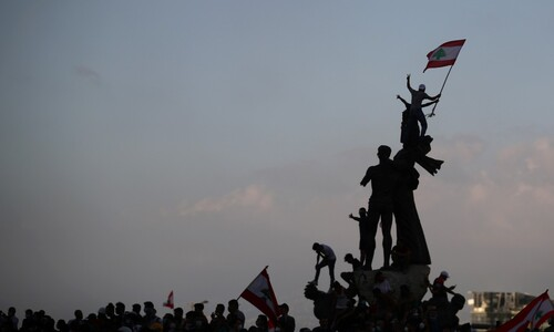 시위대의 깃발