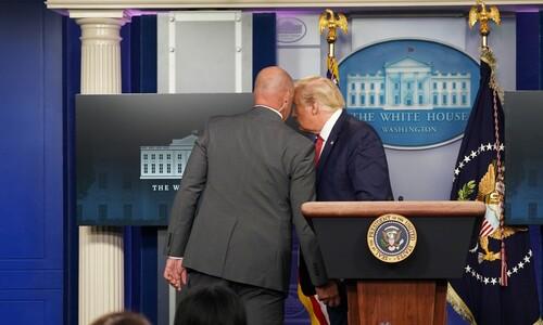 백악관 밖에서 총격…트럼프, 브리핑 도중 긴급 퇴장