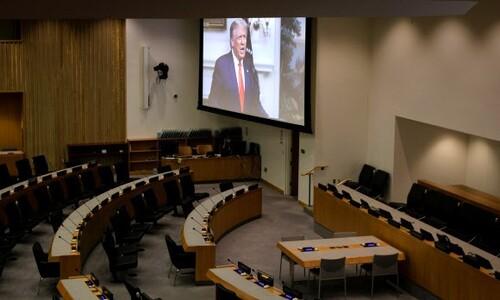 트럼프, 네번째 유엔총회 연설에서 처음으로 북한 언급 안해