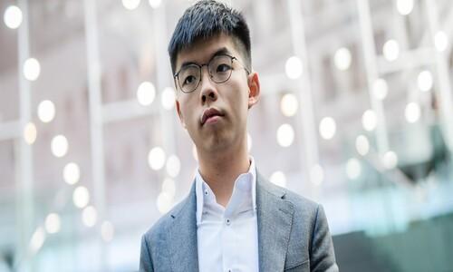홍콩 민주화 활동가 조슈아 웡 한때 체포