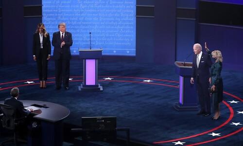 트럼프 '집요한 끼어들기'- 바이든 '실수 없는 공격'…승자는?