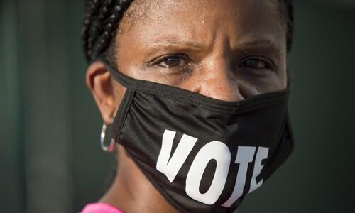 새벽부터 줄선다…'초접전' 조지아주 흑인 사전투표 4년전 2배