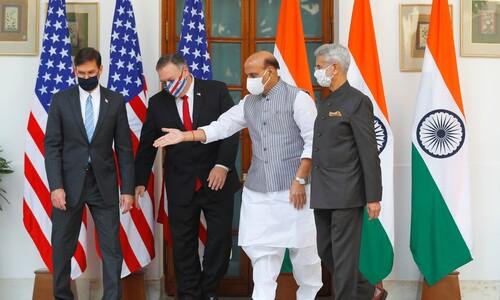 미국-인도 '중국 겨냥' 군사협력 확대
