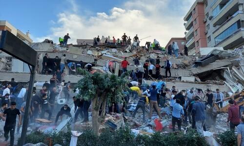 에게해 규모 7.0 강진…터키서 건물 20채 붕괴·120명 사상