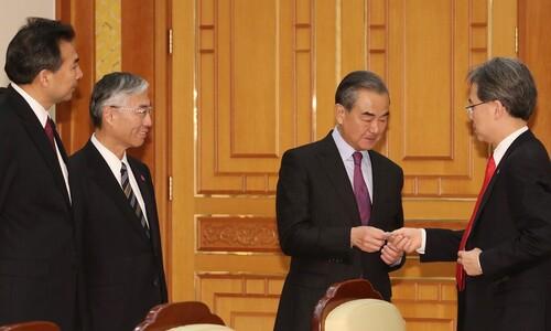 왕이, 일본 거쳐 오늘 방한…바이든 시대 '한·미·일 밀착' 견제구