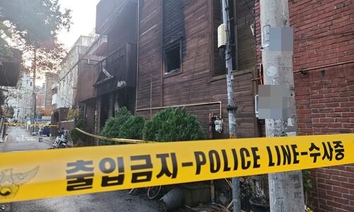 서울 마포구 모텔서 한밤중 방화…2명 숨져