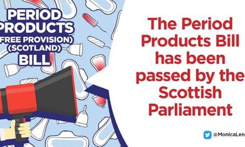 스코틀랜드, 세계최초로 여성 생리용품 전면 무상공급