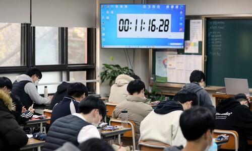 """유은혜 """"수능 수험생 코로나19 확진자 21명, 자가격리 144명"""""""
